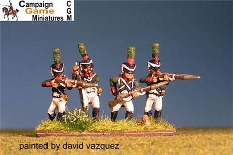 "Italian Guard  ""Conscripts"" (Reale)  In shako Firing Line."