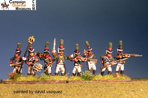 "Italian Guard  ""Conscripts"" (Reale)  In shako Firing Line"