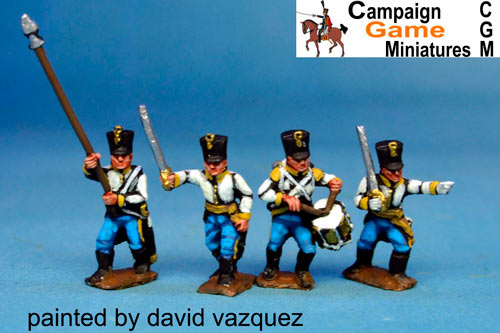 German Infantry in Shako Command Marching/Advancing Pack 2