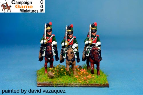 Napoleon Dragoons At Rest x4