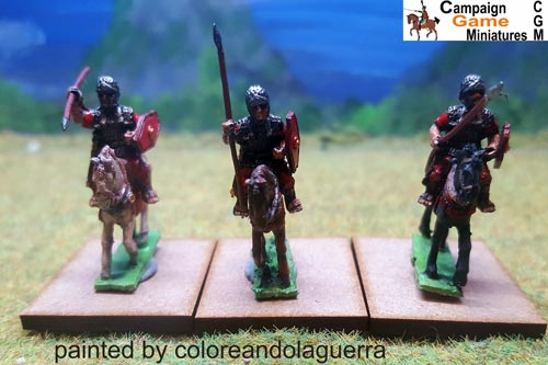 Roman Cavalry with spears & shields x 3