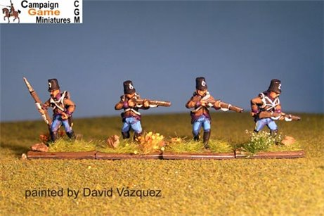 Single Figures Grenzer Light Infantry Skirmishing/ Firing Line