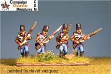 Single Figures Grenzer Light Infantry Advancing.