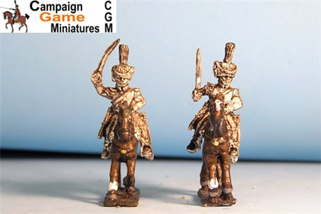Polish Elite Chasseurs Charging in Colpack x 2