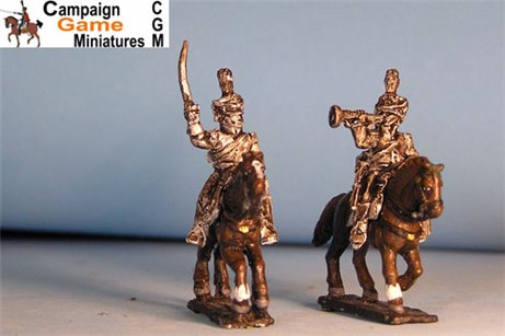 Polish Chasseurs Command Officer in Shako x 4
