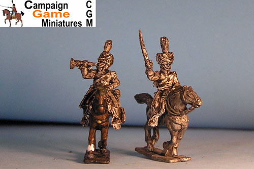 Polish Chasseurs Command Officer in Colpack x 4