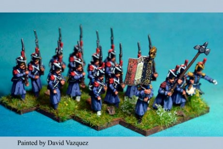 Middle Guard Grenadiers Marching in Gretacoat at Waterloo 1815. 3rd & 4th Regiments x 12 figs