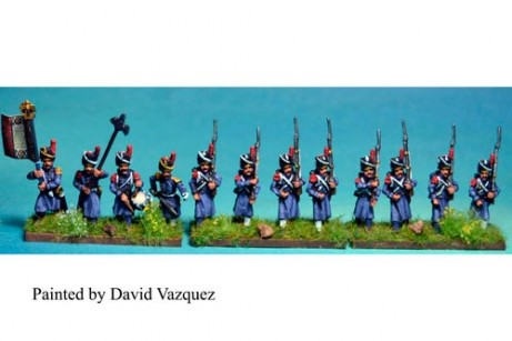 Old Guard Grenadiers Marching in Greatcoat (Also serve as Middle Guard)(1804-15) 12 figs