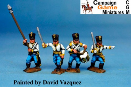 Hungarian Infantry Command 2. in Shako Marching/Advancing
