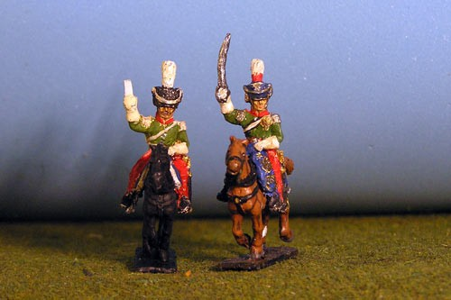 Cavalry General in Shako with ADC