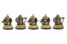 Dworgar Guard with hand weapons and shield