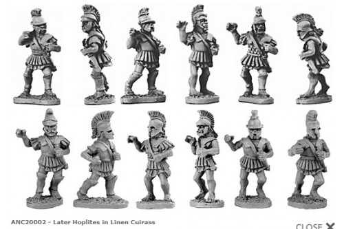 Hoplites in linen cuirass (Random 8 of 12 designs)
