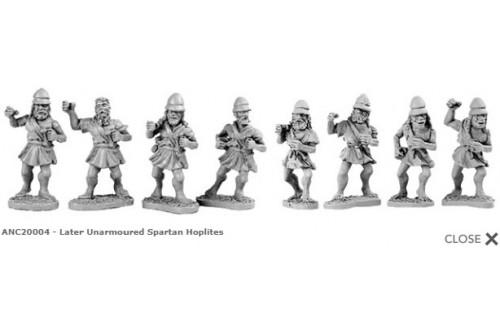 Unarmoured Spartan Hoplites (random 8 of 8 designs)