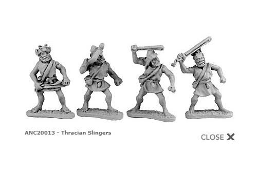 Thracian slingers (random 8 of 4 designs)