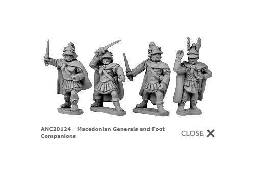 Macedonian Generals & Companions on foot