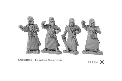 Egyptian Spearmen (random 8 of 4 designs)