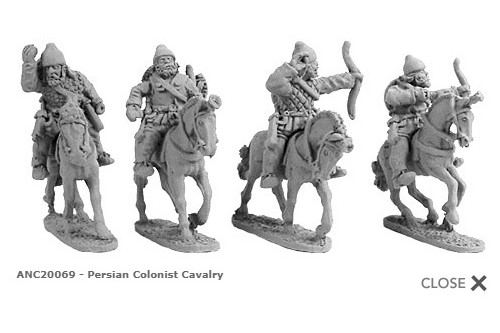 Persian Colonist Cavalry (random 4 of 4 designs)