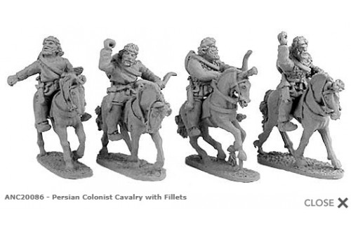 Persian Colonist Cavalry w/fillets (Random 4 of 4 designs)