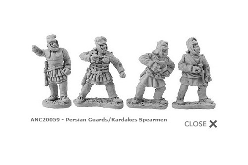 Persian Guards/Kardakes Spearmen (random 8 of 4 designs)