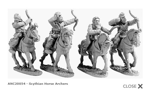 Scythian Horse Archers (random 4 of 4 designs)