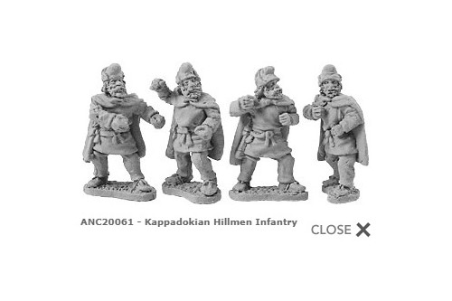 Kappadokian Hillmen Infantry (random 8 of 4 designs)