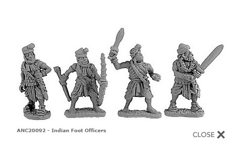 Indian Foot Officers (Random 8 of 4 designs)