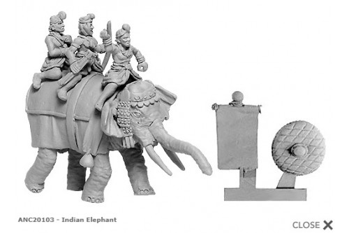 Indian General''s Elephant w/4 crew'