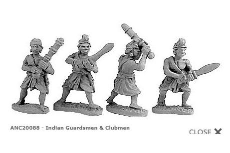 Indian Guardsmen & Clubmen (Random 4 of 4 designs)