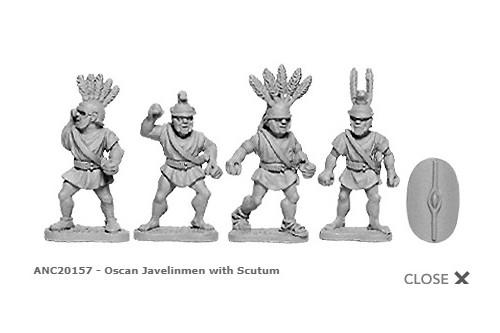 Oscan Javelinmen w/Scutum (random 8 of 4 designs)