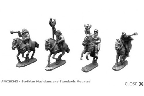 Sythian mounted Musicians and standards