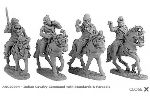 Indian Cavalry Command with Standards & Parasols (Random 4 of 4 designs)
