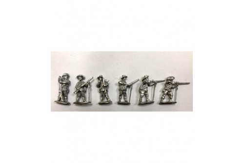 Musketeers Firing & loading 2.  (6 different figures)