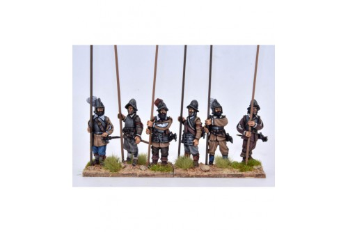 Pikemen, armour, vertical pike (6 diffeent figures not including pikes)
