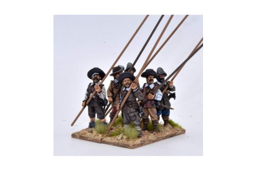 Pikemen, pike at 45º (6 different figures not including pikes)