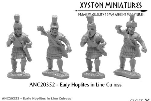 Early Hoplites in Line Cuirass