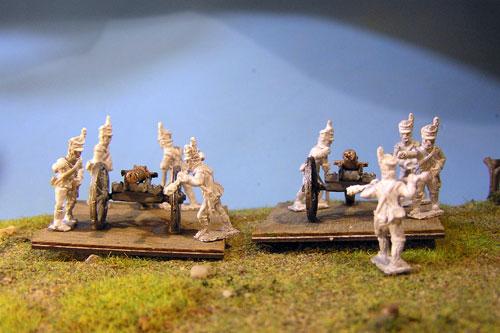 Portuguese Artillery Battery 2x6lb guns & 8 crew