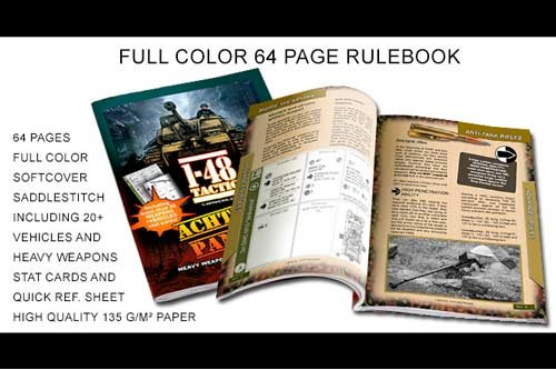 """1-48 TACTIC""""ACHTUNG PANZER!"""" Vehicles rules 64 page rulebook"""