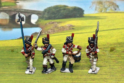 Old Guard Chasseurs Command Marching/Advancing in Full Dress (1804-15) 5 variants