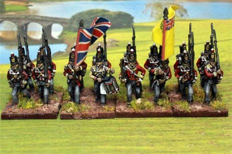 British Line Infantry Marching Stovepipe Shako 12 figs