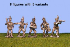 Brunswick Foot artillerymen (8 figures, 4 variants)