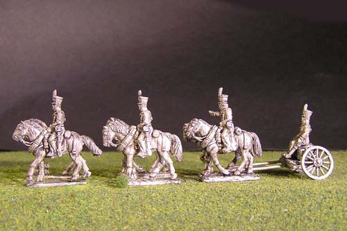 Brunswick Foot artillery Limber with 6 horses, 3 riders & 1 sitting driver