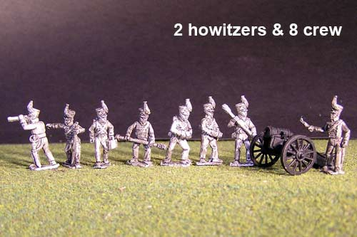 Brunswick Horse artillery Battery with 2x British Howitzers & 8 figures