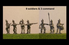 Brunswick Line Infantry Firing Line 12 figs with Command