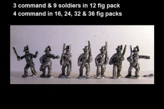 Avantguard Jagers Marching in Hats x 12 figs with command