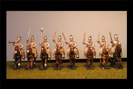 Chevauxlegers / Dragoons Charging with Sword x 8 with Command