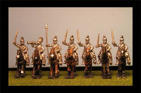 Cuirassiers Charging with Sword x 8 with Command