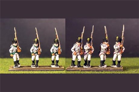 German Infantry in Shako Marching pack 2  (3 variants in 8 figures)