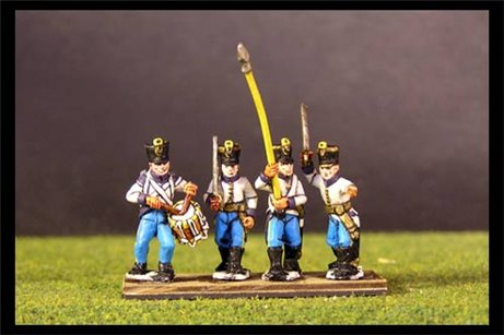 Hungarian Infantry Command in Shako Marching/Advancing (8 figures, 4 variants)