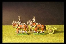 Austrian Artillery Limber with 4 horses and 2 riders