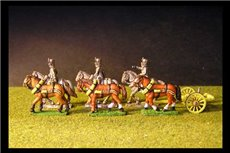 Austrian Artillery Limber with 6 horses and 3 riders